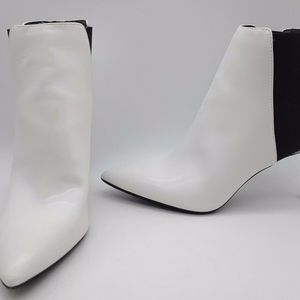 INC White Ankle Boots